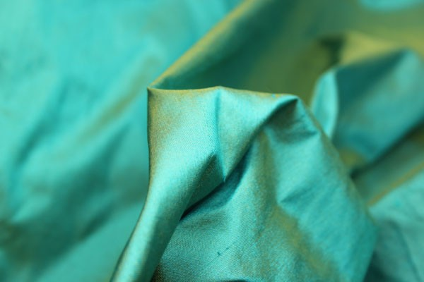 Silk Dupion - Turquoise - Buy Silk Dupion from Broadwick Silks Fabric Store